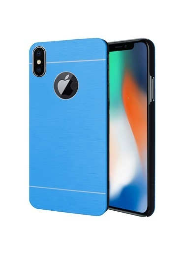 Microsonic iPhone X Kılıf Hybrid Metal  Turkuaz
